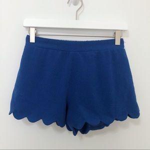 ❄️ The Vintage Shop Woven Scalloped Hem Shorts